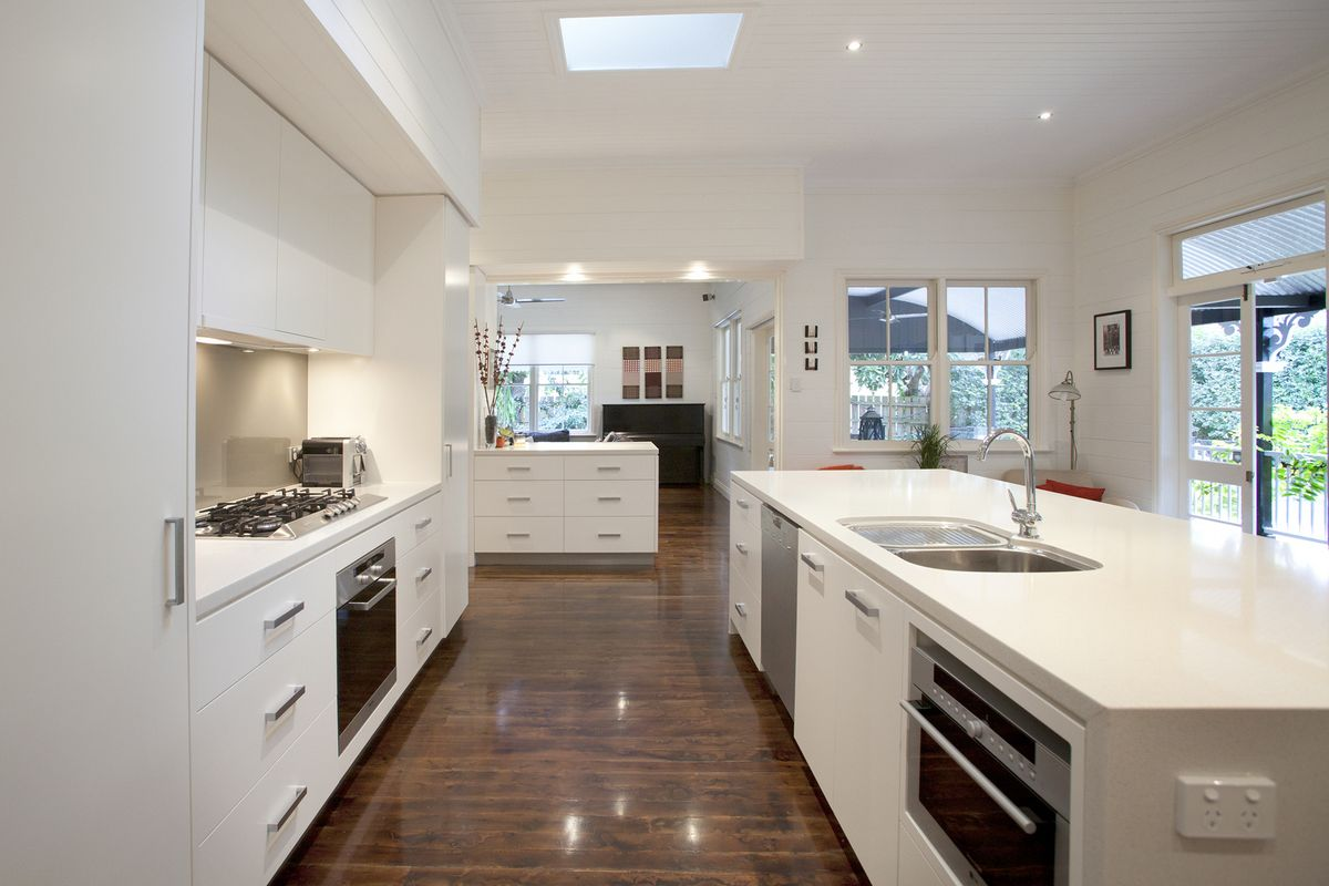 Galley Kitchen With Island Images