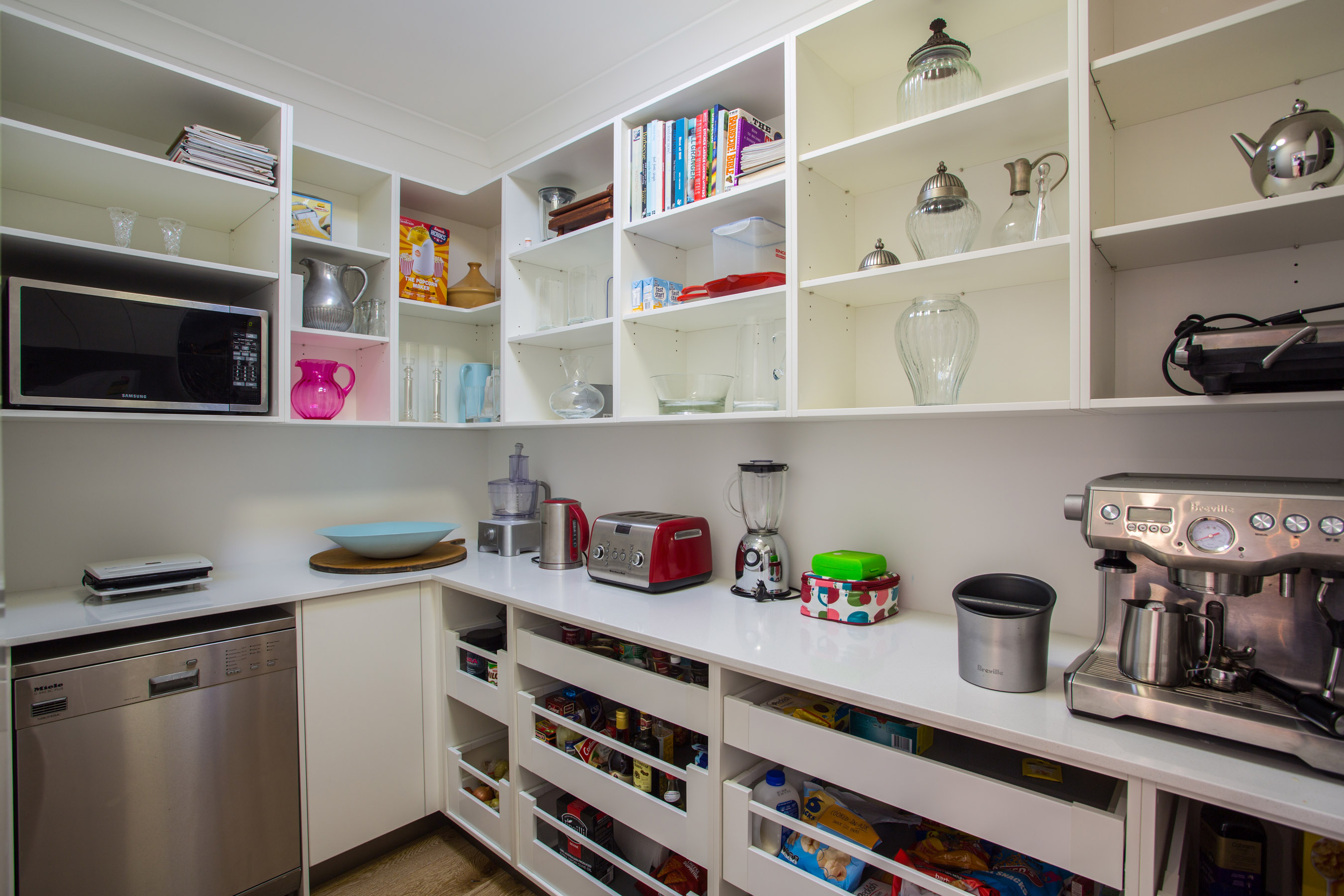 image of kitchen design with large walk in pantry joy