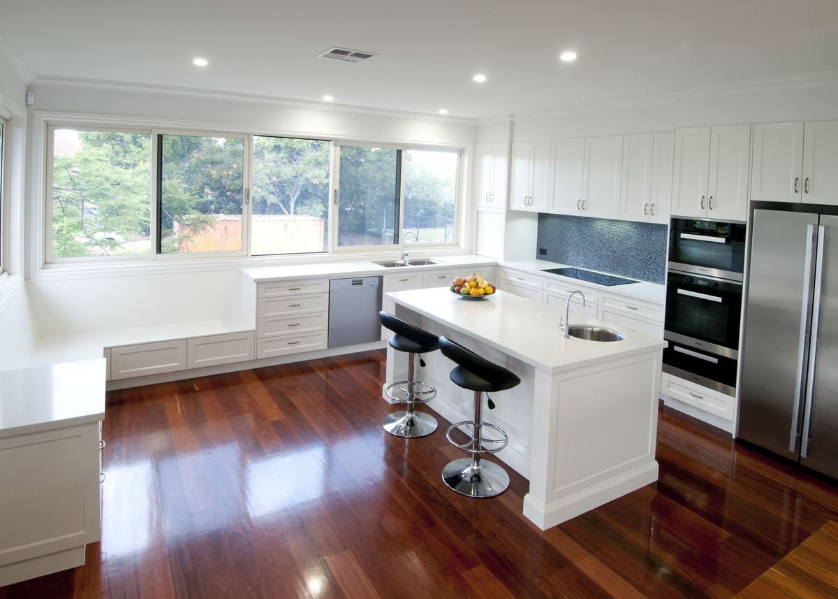 This large traditional style kitchen with a modern touch.  Kedron